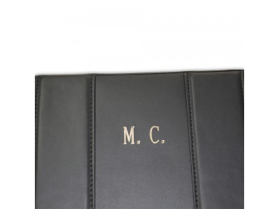 Gilt Embossed  Initials On Case
