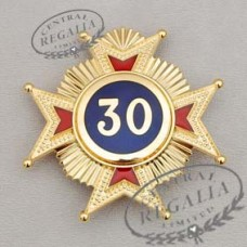 A018 Rose Croix 30th Degree Star Jewel Metal Gilt & Enamel