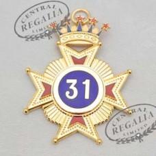 A023 Rose Croix 31st Degree Star Jewel