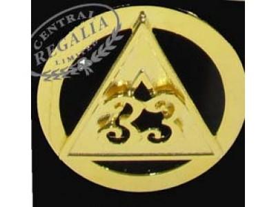 A036  33rd Degree Cap Badge -  Inspectors General.