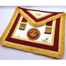 Athelstan  Provincial  Apron  -imitation Lambskin  - With Badge