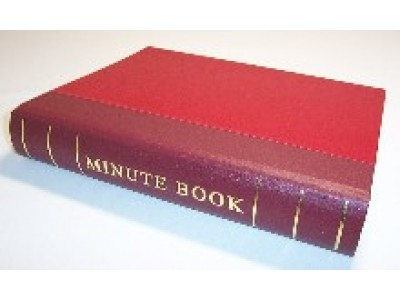 Minute Book Guards Only Red Binding