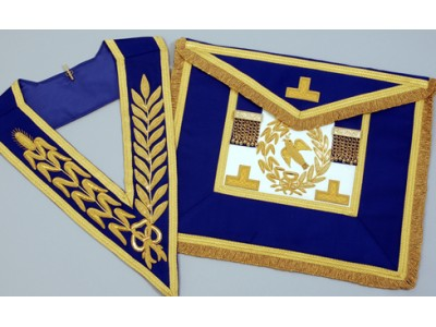 C052 Craft Grand Lodge F/d Apron & Collar Finest Quality