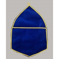 F008 Alms Bags In Blue Velvet - Large  (a4)