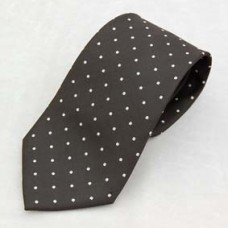 G007 Tie- White Spots On Black
