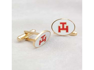 G219 Ra Cuff Links M/g Oval With Red Tau