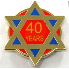 G327  Lapel Pin - Ra 40 Year