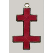 K035 Kt Preceptors Cross Jewel For Collarette   (active)