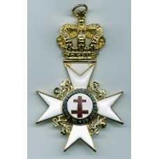 K038 Past Preceptor & Prior's  Collarette Jewel With Preceptory Name & Number