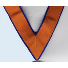 "L030  Allied W.m. Collarette (1"" Orange Edged 1/8th R/blue)"