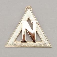 N111 Ram Grand Officer/pcn Collar Jewel Metal Gilt