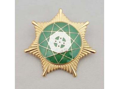 Y007 Ros Star Jewel Metal Gilt & Enamel