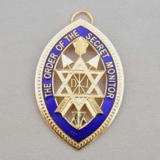 Z023 Osm Provincial/district & Grand Collarette Jewel M/gilt & Enamel