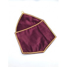 R101 Alms Bags In Red Velvet - Extra Large  (a4)